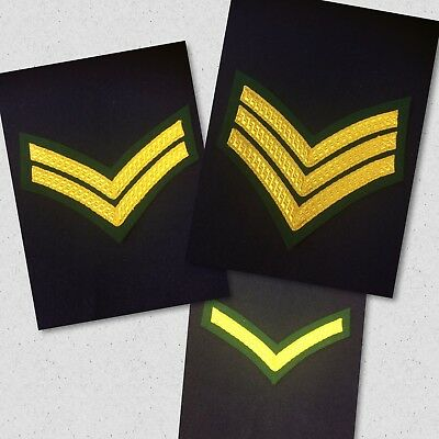 £9.90 • Buy Quality Royal Marines Chevrons Gold & Green Backed Lovat Stripes Marine Tapes