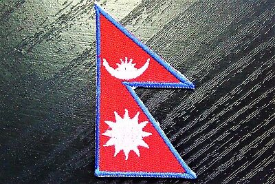 NEPAL Nepalese Country Flag Embroidered PATCH Badge *NEW* • 2.49£