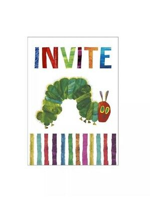 The Very Hungry Caterpillar Birthday Party Invitations X 8 With Envelopes • 3.49£