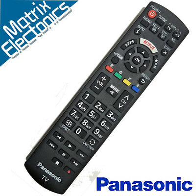 AU21.95 • Buy Genuine OEM Replacement PANASONIC Remote TV/LED/LCD/Smart TV With NETFLIX Key
