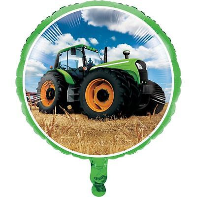 AU6.46 • Buy 17  Tractor Time Foil Balloon Helium Boys Birthday Party Decoration Supplies