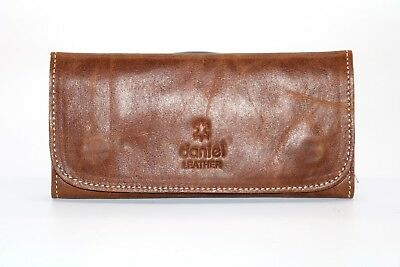 Soft Genuine Smoke Tobacco Pocket Pouch Case Real Leather Lining Rolling Pocket • 12.99£