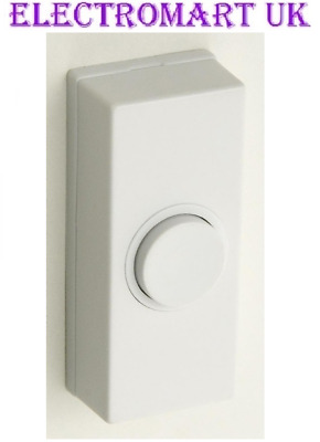 Door Bell Chime Bell Push Press Button White • 2.98£