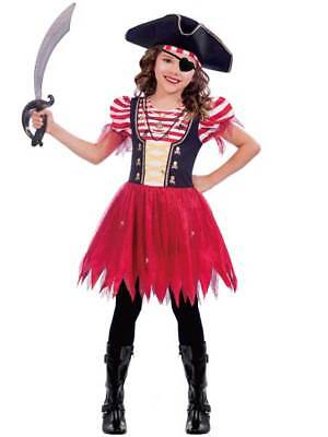 £9.89 • Buy Child High Seas Pirate Costume Buccaneer Girl Fancy Dress Kids Caribbean Outfit