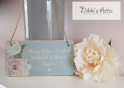 Inspirational Quote Wooden Plaque,Sign, Handmade, Gift, Home,Floral • 4.75£