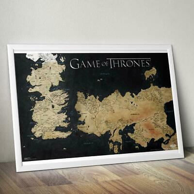 AU22.99 • Buy Game Of Thrones Westeros Map Poster 61 X 91cm