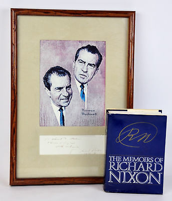 $ CDN3133 • Buy The Memoirs Of Richard Nixon Signed Norman Rockwell Print Autographed Book