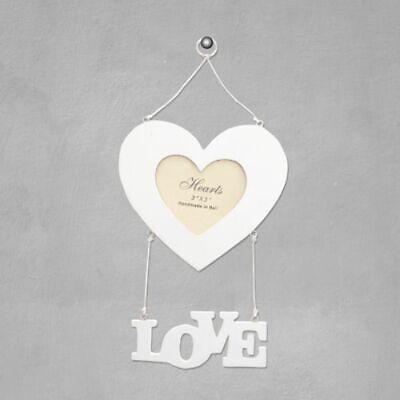 £8 • Buy Love Heart Wooden Photo Frame Girlfriend Wife Valentines Day NEW