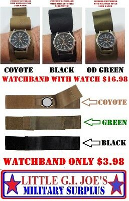 $3.98 • Buy Military Style Covered Watch Band Comando Rothco 4101 With Or Without Watch