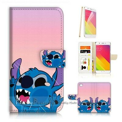 AU12.99 • Buy ( For Oppo A57 ) Wallet Case Cover P21578 Cute Little Monster