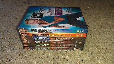 Lot Of 6 Bob Harper DVDs Inside Out Method Kettlebell Bob's Workout *SEALED!* • 42.41£