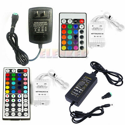 $7.80 • Buy 24/44 Key IR Remote Controller +2A/5A Power Supply For 3528 5050 LED Strip Light
