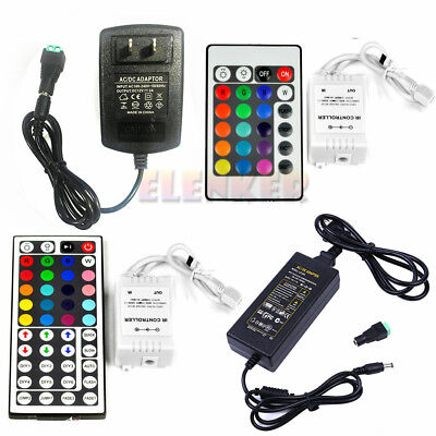 24/44 Key IR Remote Controller +2A/5A Power Supply For 3528 5050 LED Strip Light • 6.80$