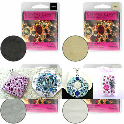 Crystal Clay Two Parts Epoxy Clay For Craft Jewellery Making - MULTI LISTING • 8.95£