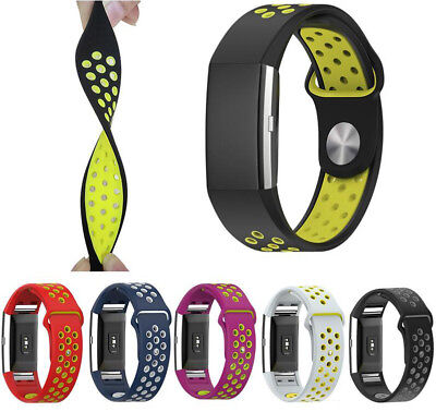 $ CDN11.10 • Buy Sports Strap For Fitbit Charge 2 Replacement Band Secure Wristband HR