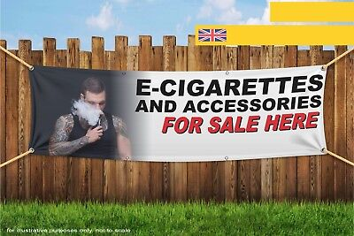 $ CDN32.87 • Buy E-Cig And Accessories Sold Here Vape Male Heavy Duty PVC Banner Sign 3609