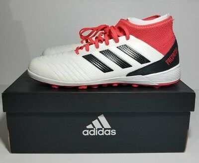 9e6090128 ADIDAS PREDATOR TANGO 18.3 TF Turf Soccer Cleats White Red Coral CP9930 SZ  9.5 • 109.99