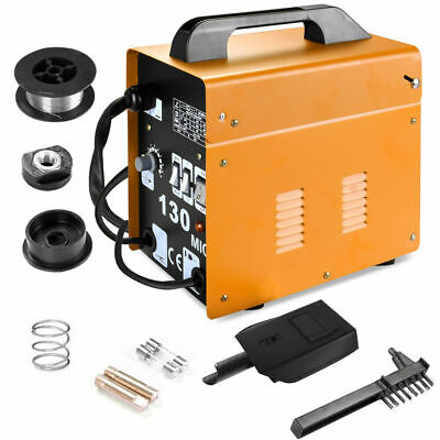 MIG-130 Welder Gas Less Flux Core Wire Automatic Feed Welding Machine 120A 230V • 88.95£