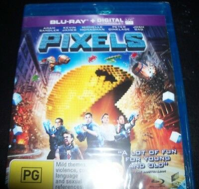 AU15.29 • Buy Pixels (Adam Sandler Kevin James) (Australia Region B) Bluray – NEW