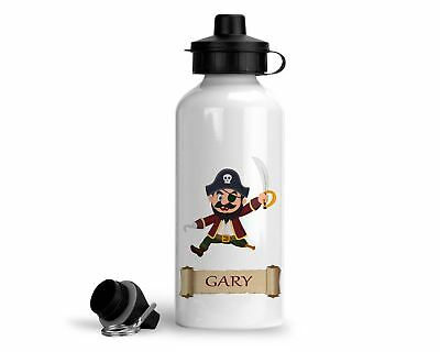 AU34.98 • Buy Personalised Pirate Water Bottle 500ml - Pirate Wooden Leg - Add Any Name