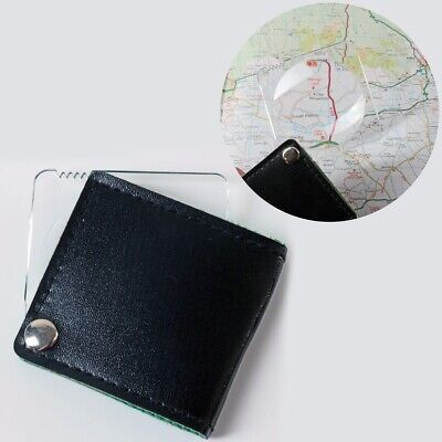 SMALL MAGNIFYING GLASS Fold Away Pocket Magnifier Map Reading Eye Tool Lens • 2.67£