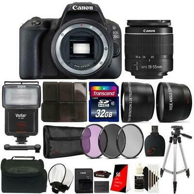 View Details Canon EOS 200D / SL2 24.2MP DSLR Camera + 18-55mm Lens + 32GB Accessory Kit • 484.98$