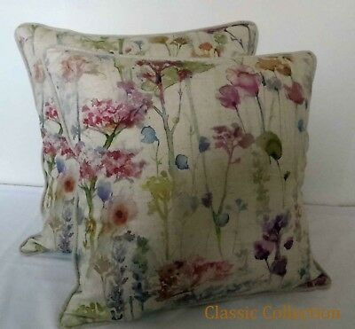 £19.95 • Buy Voyage- Ilinizas Poppy Natural -handmade Piped Cushion Cover - Various Sizes