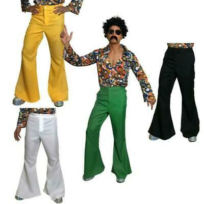 £10.99 • Buy Mens 60s Flares Flared Trousers Adult Hippy 70s Disco Hippie Fancy Dress Costume