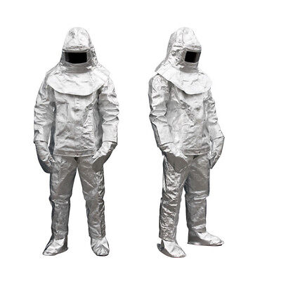 Thermal Radiation 1000 Degree Heat Resistant Aluminized Suit Fireproof Clothe CE • 119.99$