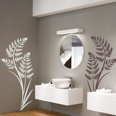 1 Fern Plant Living Room Wall Art Stickers Decal Art Bedroom Bathroom Vinyl V89 • 15.95£