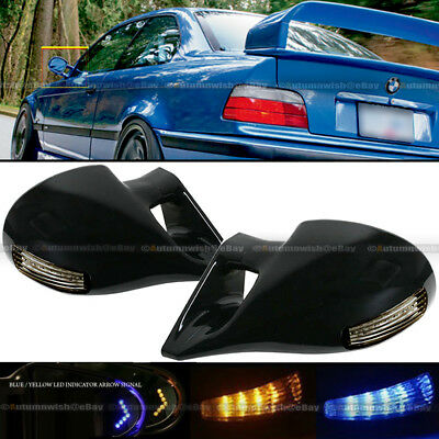 $40.99 • Buy For 95-03 Cavalier 2DR M-3 LED Manual Side Mirror Arrow Signal Amber Blue