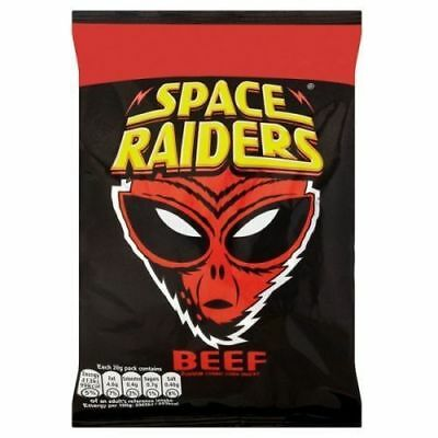Full Box Of 36 Packs X 25g Beef Flavour Space Raiders Crisps Corn Snack £10.89 • 10.89£