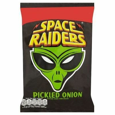 Full Box Of 36 Packs X 25g Bags Space Raiders Pickled Onion Flavour Only £10.89 • 10.89£