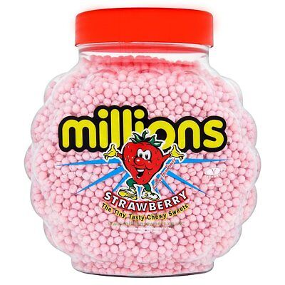 £18.99 • Buy Full Jar Of 2.27kg Strawberry Flavour Millions Candy Sweets Free Only £18.99