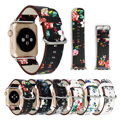 $ CDN6.84 • Buy 38/42mm Floral IWatch Leather Strap Women Band For Apple Watch Series  5 4 3 2 1