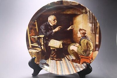 $ CDN15.25 • Buy Vintage - Norman Rockwell - Collector Plate  The Veteran  By Edwin M. Knowles