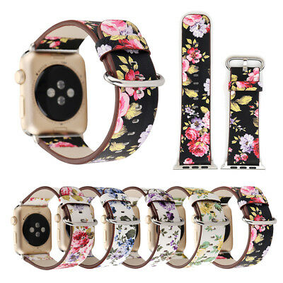 $ CDN6.56 • Buy 40/44mm Women IWatch Leather Band Floral Strap For Apple Watch Series  5 4 3 2 1