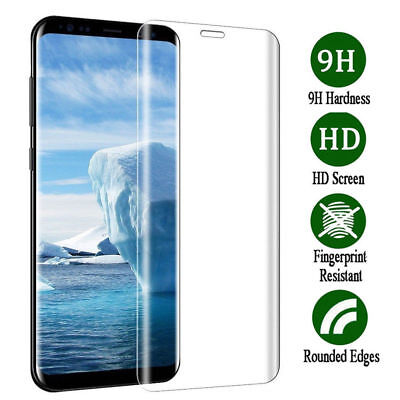 $ CDN9.74 • Buy Tempered Glass Screen Protector For Samsung Galaxy S9 Curved Clear Full Cover