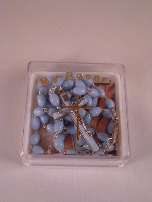 £4.99 • Buy Plastic Rosary ~ Blue ~ Extra Strong