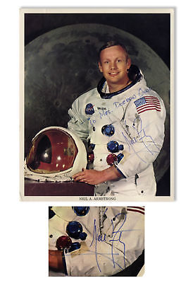 $1500 • Buy Neil Armstrong Signed 8'' X 10'' Photo In His White Suit