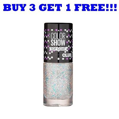 £2.69 • Buy Maybelline Nail Polish Color Show Top Coat 7ml Glitter It 293