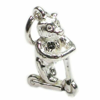 £11.25 • Buy Bear Riding A Scooter Sterling Silver Charm .925 X 1 Bears Charms
