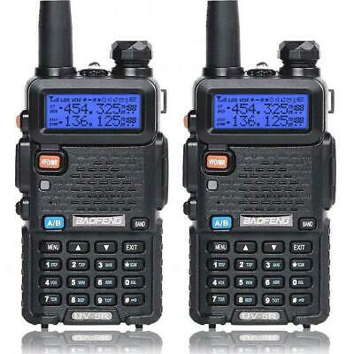 2X Baofeng UV-5R LCD Dual Band UHF VHF Walkie Talkie Ham Two Way Radio +Earpiece • 35.97£