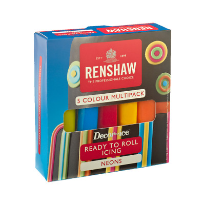 Renshaw Ready To Roll Icing Pack Neons Free Delivery • 9.99£