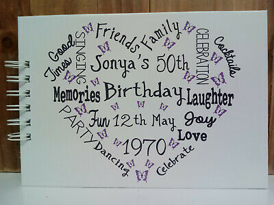 A5 PERSONALISED BIRTHDAY 18th 21st 30th 40th 50th 60th Photo Album Guest Book  • 9.99£
