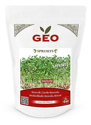 £9.95 • Buy GEO Organic Broccoli Seeds For Sprouting (300g Pack)