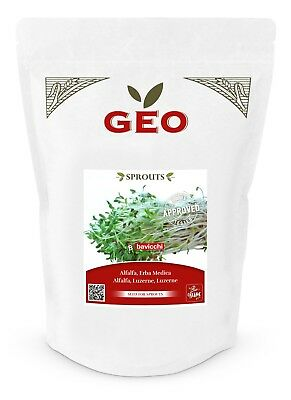 £8.95 • Buy GEO Organic Alfalfa Seeds For Sprouting (500g Pack)