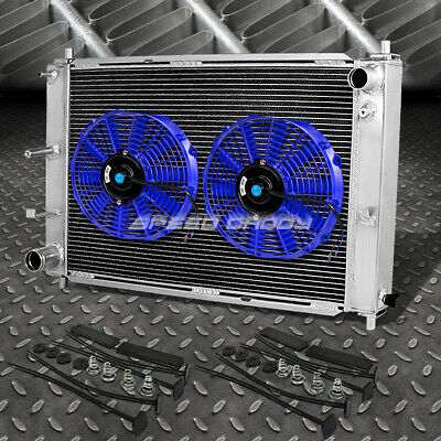 $125.88 • Buy 3-row Aluminum Radiator+2x 9  Fan Kit Blue For 97-04 Ford Mustang Gt/svt V8 Mt
