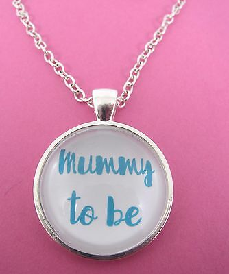 £4.99 • Buy Mummy To Be Silver Plated Glass 18  Necklace New In Gift Bag Pregnancy Mum