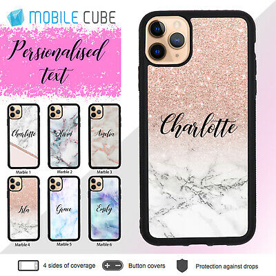 AU9.85 • Buy IPhone 11 Pro Max X XS Max XR 8 7 + 6s Plus Case Marble Personalised Name Cover